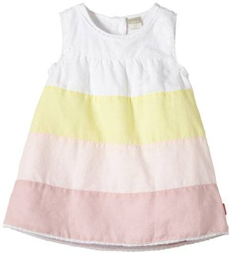 NAME IT - IDA SO NB SPENCER 214 Robe Bébé fille - Multicolore (Bright White) - FR : 6 mois (Taille fabricant : 68)