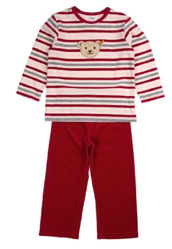 Steiff 2Tlg. Schlafanzug Nicky 1/1 Arm + - Ensemble de pyjama - à rayures - Manches longues - Fille - Rose (cabaret pink 2095) - FR: 3 ans (Taille fabricant: 98)
