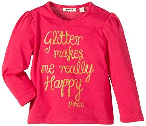 MEXX Mini Girls C&S; - T-shirt - Bébé fille - Rouge (Rose Red 647) - FR: 9 mois (Taille fabricant: 74)