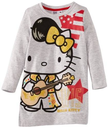 Hello Kitty Elvis - Chemisier - Fille - Gris - FR: 3 ans (Taille fabricant: 3 Years)