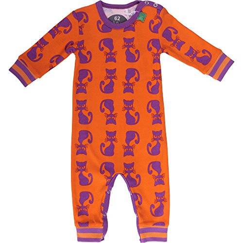 Fred'S World By Green Cotton - Grenouillère - Bébé fille - Orange (Orange 015146001) - FR: 9 mois (Taille fabricant: 74)
