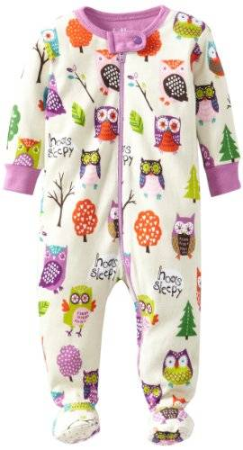Hatley Pyjama Bb - Ecru - Party Owls - FR : 3 mois (Taille fabricant : 3-6 Months)
