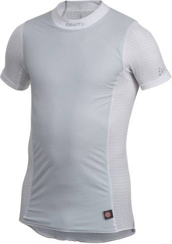 Craft Craft1h Ba Extreme Windstopper Haut manches courtes Homme Blanc/Argent FR : S (Taille Fabricant : S)