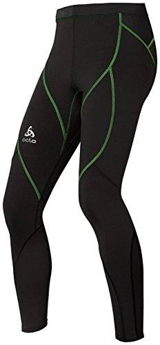 Odlo Fury Light Collant Homme Black/Green Flash FR : L (Taille Fabricant : L)