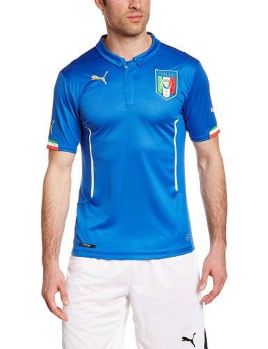 Puma Maillot domicile Italie Replica Homme Blue FR : 56/58 (Taille Fabricant : XL)
