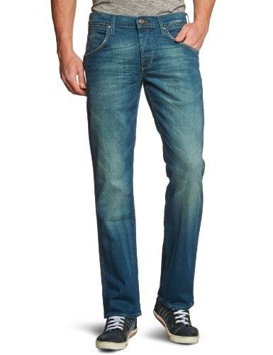 Wrangler - crank - jean - droit - used - homme - Bleu (Broke Down) - FR : W33/L32 (Taille fabricant : W33/L32)