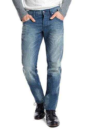 edc by ESPRIT Stone Washed - Jeans - Tapered - Homme - Bleu (C Medium Blue 955) - W34/L32 (Taille fabricant: 34/32)