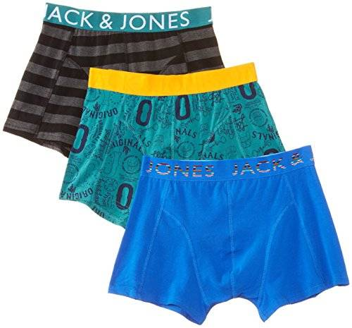 Jack & Jones Falynn 3-Pack Regular - Boxer - Homme - Multicolore (Strong Blue) - Medium (Taille fabricant: M)