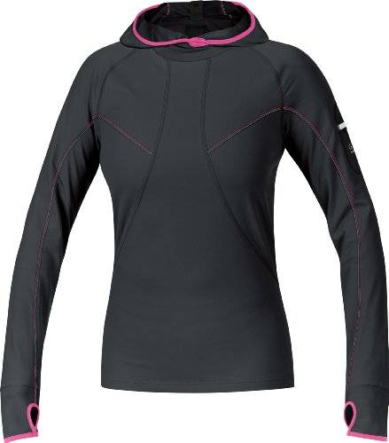 Gore Running Wear Air Maillot capuche femme Black/Hot Pink FR : 36 (Taille Fabricant : S )