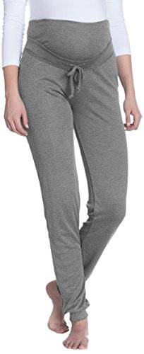 Bellybutton - Pantalons - maternité - Relaxed - Femme - Gris (Grey Melange Italy 8110) - W30/L33 (Taille fabricant: L)