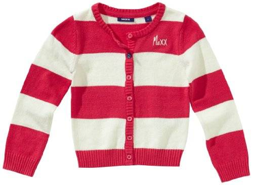 MEXX Pull-over Col ras du cou Manches longues Fille - Rouge - Rot (652) - FR : 5 ans (Taille fabricant : 110/116)
