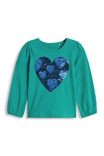 ESPRIT Aus - T- shirt - Manches longues - Fille - Vert (Minty Teal 395) - FR: 4 ans (Taille fabricant: 104+)