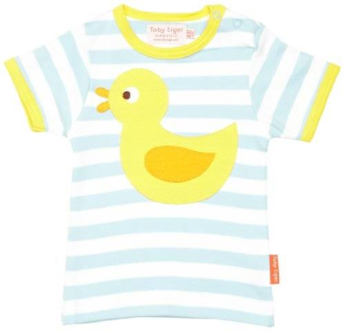 Toby Tiger - T-shirt - Col ras du cou - Manches courtes - Fille - Bleu - FR: 4 ans (Taille fabricant: 3-4 Years)