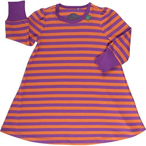 Fred'S World By Green Cotton Stripe - Robe - à rayures - Fille - Violet (Purple 018325001) - FR: 7 ans (Taille fabricant: 122)