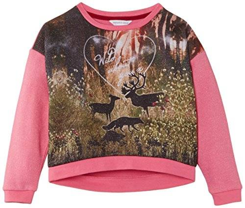 Pumpkin Patch Oversize Woodland - Pull - Fille - Rose (Salmon Rose) - FR: 7 ans (Taiile fabricant: 7 ans)