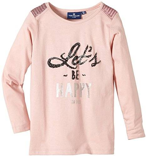 Tom Tailor Kids - T-shirt à manches longues - Fille - Rose (Silver Pink 5480) - FR: 9 ans (Taille fabricant: 128/134)