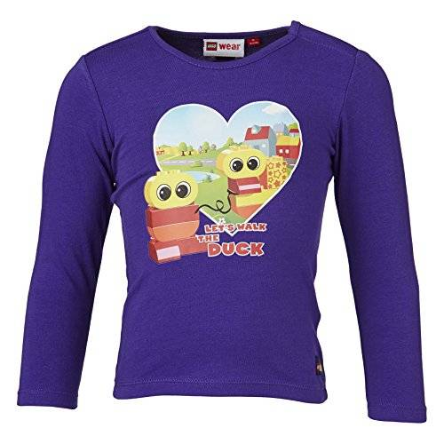 Lego Wear - T-shirt à manches longues - Fille - Violet (Dark Lilac 670) - FR: 4 ans (Taille fabricant: 104)