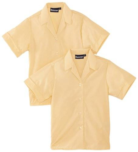 Blue Max Banner School - Chemisier - Col à boutons - Manches courtes - Fille - Marron - FR: 5 ans (Taille fabricant: 26)