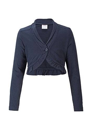 S.Oliver 53.411.31.6359 - T-shirt à manches longues - Fille - Bleu (Darkblue 5884) - FR: 8 ans (Taille fabricant: 128/134)