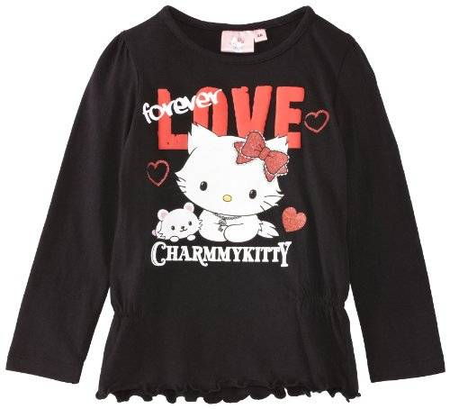 Disney Minnie Mouse - T-shirt - Fille - Noir - FR: 6 ans (Taille fabricant: 6 Years)