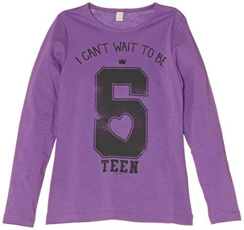 Esprit 074Ee5K004 - T-shirt - uni - Fille - Violet (Pure Lilac) - FR: 10 ans (Taiile fabricant: 10 ans (Small))