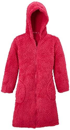 Lina Pink Mouton - Robe de chambre - Uni - Fille - Rose (Fuchsia) - FR: 5 ans (Taille fabricant: 5)