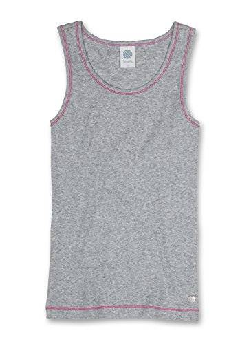Sanetta 343727 - Maillot de corps - Fille - Gris (grey mel. 1737) - FR: 8 ans (Taille fabricant: 128)