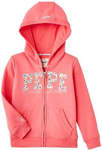 Pepe Jeans Eden - Sweat-shirt - Uni - Fille - Orange (Coral) - FR: 5 ans (Taille fabricant: 5)