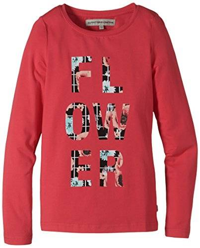OUTFITTERS NATION - T-shirt à manches longues Fille - Multicolore - Mehrfarbig (Rouge Red Rouge Red) - 14 ans