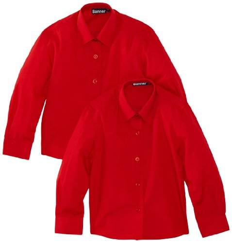 Blue Max Banner - Chemisier - Col chemise classique - Fille - Rouge - FR: 4 ans (Taille fabricant: 24)