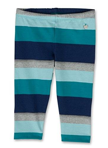 Sanetta 139553 - Leggings - à rayures - Fille - Multicolore (curacao star 50106) - FR: 4 ans (Taille fabricant: 104)