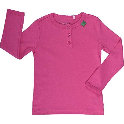 Fred'S World By Green Cotton - T-shirt à manches longues - Fille - Rose (Pink 017243501) - FR: 8 ans (Taille fabricant: 128)