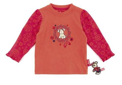 Sigikid , Mini - T-shirt à manches longues - Fille - Orange (mandarine red) - FR: 8 ans (Taille fabricant: 128)
