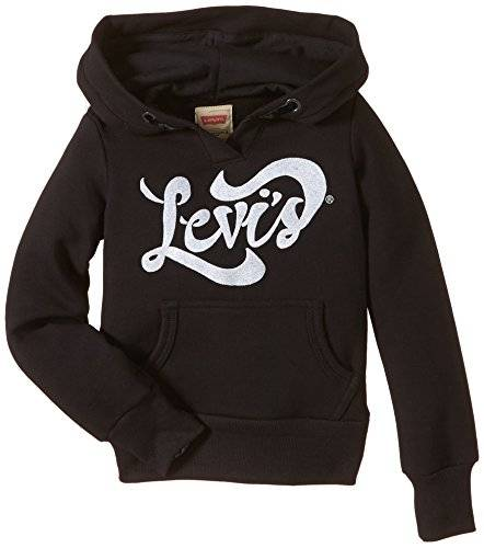 Levi's Kids Sweater N91553A - Sweat-shirt - Fille - Noir (Black 02) - FR: 5 ans (Taille fabricant: 5A)