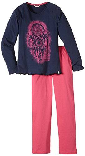 ESPRIT Ornamental - Ensemble de pyjama - Fille - Bleu (Dark Blue) - 10 ans (140/146)