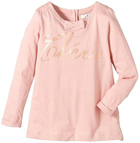 Tom Tailor Kids Cute Cherie/410 - T-shirt à manches longues - uni - Fille - Rose (silver pink 5480) - FR: 5 ans (Taille fabricant: 104/110)