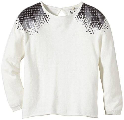 Name It Lilana Kids Oversize Knit Lmtd 5 X-Au14 - Pull - Fille - Blanc (Cloud Dancer) - FR: 5 ans (Taille fabricant: 110)