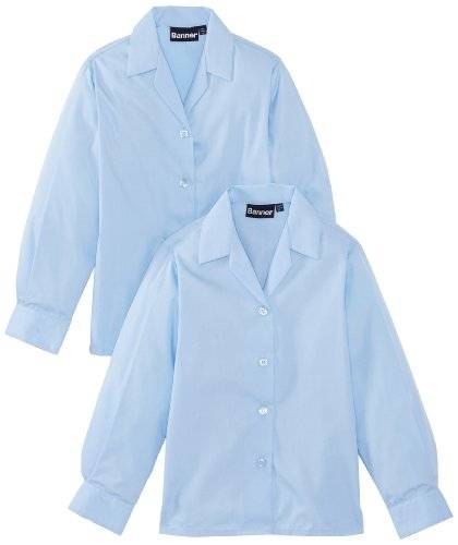Blue Max Banner School - Chemisier - Col à boutons - Fille - Bleu - FR: 5 ans (Taille fabricant: 26)