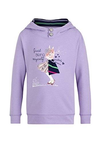 S.Oliver 53.410.41.7679 - Sweat-shirt - uni - Fille - Rose (lilac 4812) - FR: 4 ans (Taille fabricant: 104/110)