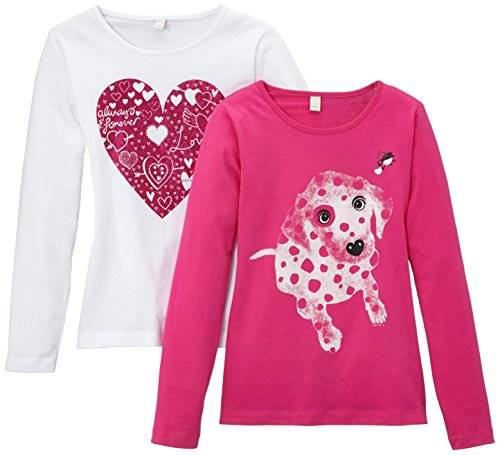 Esprit 084EE7N002 - T-shirt - Fille - Rose - FR: 4/5 ans (Taille fabricant: 104/110)