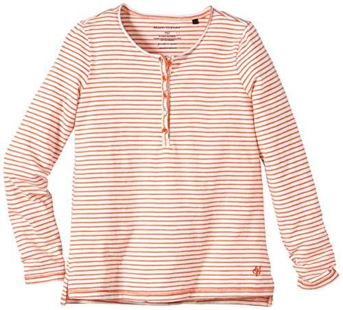 Marc O' Polo Junior 917330 - T-shirt à manches longues - Fille - Orange (glowing coral 2419) - FR: 8 ans (Taille fabricant: 128)
