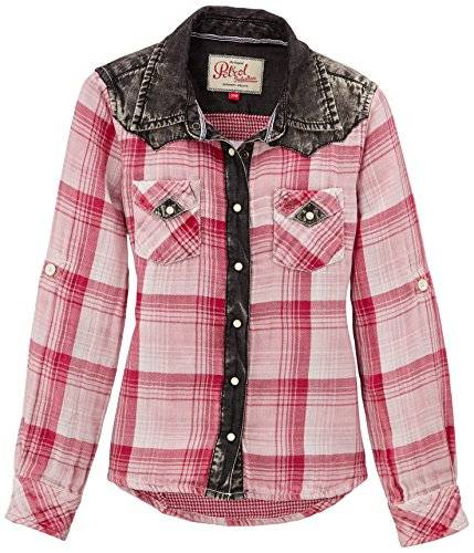 Petrol Industries - Chemise - Fille - Rose (Light Slate Melee) - FR: 14 ans (Taille fabricant: 164)