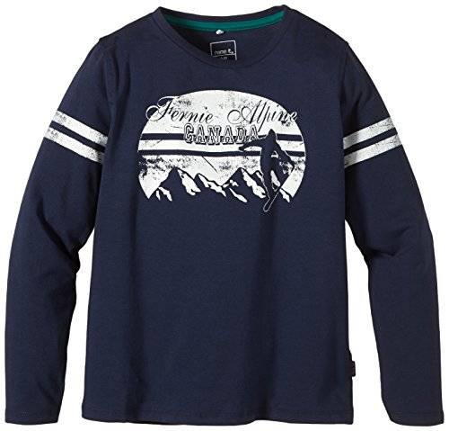 Name It Odley Kids Ls Top - T-shirt à manches longues - uni - Garçon - Bleu (Dress Blues) - FR: 9 ans (Taille fabricant: 134-140)