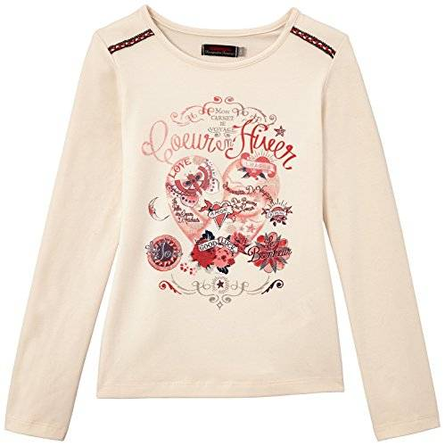 Catimini - T-shirt - Fille - Ecru - FR: 10 ans (Taille fabricant: 10 ans)