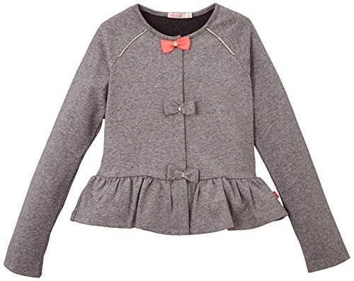 Billieblush - Gilet - Fille - Gris (Anthracite Chiné) - FR: 5 ans (Taille fabricant: 5 ans)