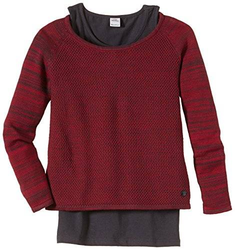 s.Oliver 66.408.61.2179 - Pull - uni - Fille - Rouge (Red Melange 45W3) - FR: 15 ans (Taille fabricant: XL)