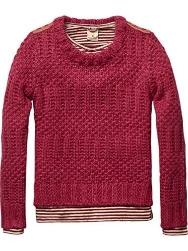 Scotch R'Belle 14540760409 - Pull - Manches longues - Fille - Rouge (syrup 33) - FR: 12 ans (Taille fabricant: 12)