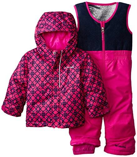 Columbia Buga Set Salopette de ski Fille Groovy Pink Print FR : 4 ans (Taille Fabricant : 4T)