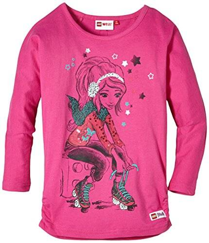 Lego Wear Lego Friends Tuxie 801 -Langarmshirt - T-shirt à manches longues - Fille - Rose (RASPBERRY 446) - FR: 5 ans (Taille fabricant: 110)