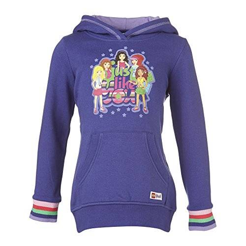Lego Wear - Sweat-shirt à capuche - Fille - Violet (Dark Lilac 677) - FR: 8 ans (Taille fabricant: 128)